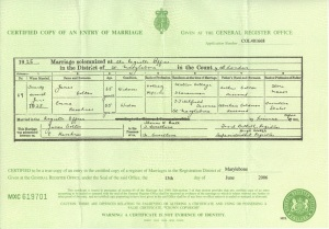The marriage certificate