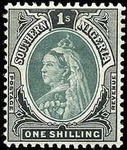 180px-stamp_southern_nigeria_1901_1sh