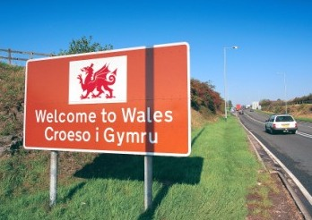 Welcome to Wales (Croeso i Gymru) road sign South Road signs Signs and Signage